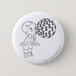 Richie Rich Blowing Bubble - B&W 6 Cm Round Badge