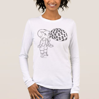 Richie Rich Blowing Bubble - B&W Long Sleeve T-Shirt