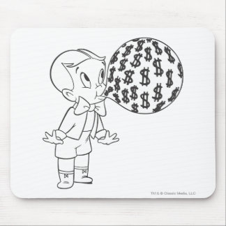 Richie Rich Blowing Bubble - B&W Mouse Mat