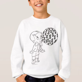 Richie Rich Blowing Bubble - B&W Sweatshirt