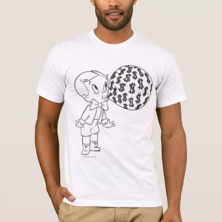 Richie Rich Blowing Bubble - B&W T-Shirt