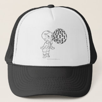 Richie Rich Blowing Bubble - B&W Trucker Hat