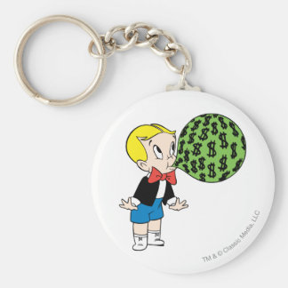 Richie Rich Blowing Bubble - Color Basic Round Button Key Ring