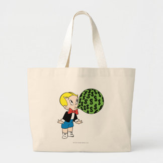 Richie Rich Blowing Bubble - Color Large Tote Bag