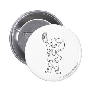 Richie Rich Dollar Bill B&W 6 Cm Round Badge
