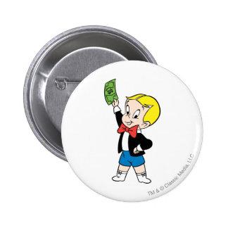 Richie Rich Dollar Bill - Color 6 Cm Round Badge