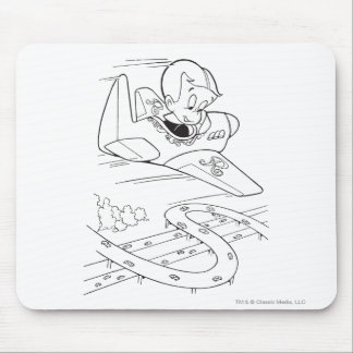 Richie Rich Flying Plane - B&W Mouse Pad