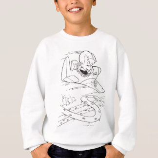 Richie Rich Flying Plane - B&W Sweatshirt