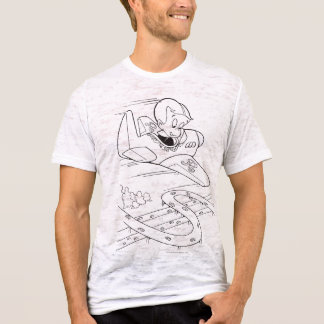 Richie Rich Flying Plane - B&W T-Shirt