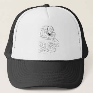 Richie Rich Flying Plane - B&W Trucker Hat