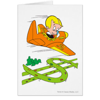 Richie Rich Flying Plane - Color Card