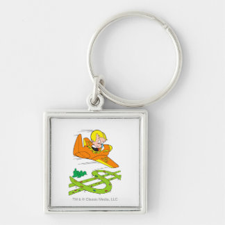 Richie Rich Flying Plane - Color Key Ring