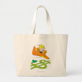 Richie Rich Flying Plane - Color Large Tote Bag