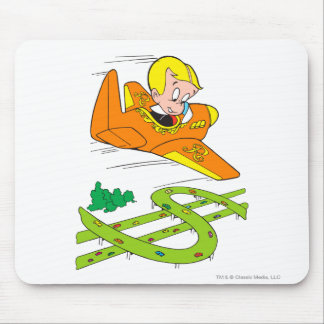 Richie Rich Flying Plane - Color Mouse Pad