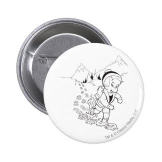 Richie Rich Hiking - B&W 6 Cm Round Badge
