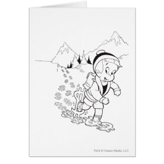 Richie Rich Hiking - B&W Card