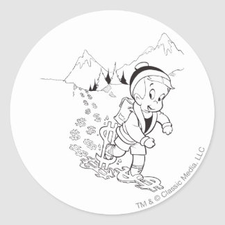 Richie Rich Hiking - B&W Classic Round Sticker