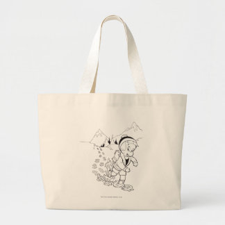 Richie Rich Hiking - B&W Large Tote Bag