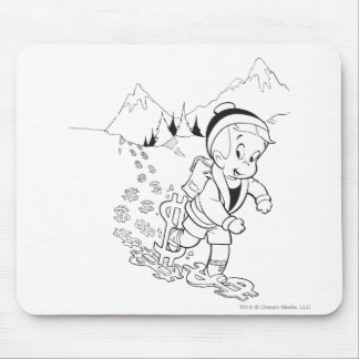 Richie Rich Hiking - B&W Mouse Mat