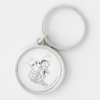 Richie Rich Hiking - B&W Silver-Colored Round Key Ring