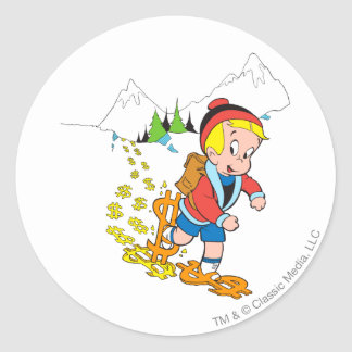 Richie Rich Hiking - Color Classic Round Sticker