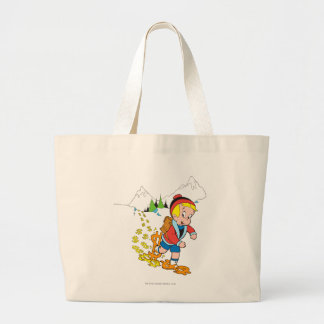 Richie Rich Hiking - Color Large Tote Bag