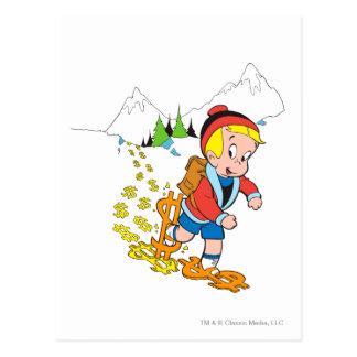 Richie Rich Hiking - Color Postcard