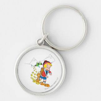 Richie Rich Hiking - Color Silver-Colored Round Key Ring