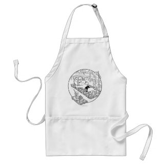 Richie Rich in Pool - B&W Standard Apron