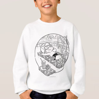 Richie Rich in Pool - B&W Sweatshirt