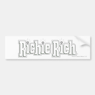 Richie Rich Logo - B&W Bumper Sticker
