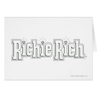 Richie Rich Logo - B&W Card