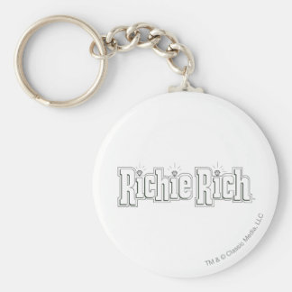 Richie Rich Logo - B&W Key Ring