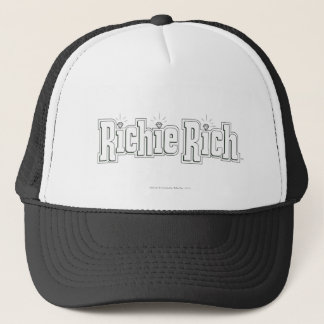 Richie Rich Logo - B&W Trucker Hat