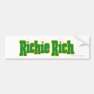 Richie Rich Logo - Color Bumper Sticker