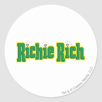 Richie Rich Logo - Color Classic Round Sticker