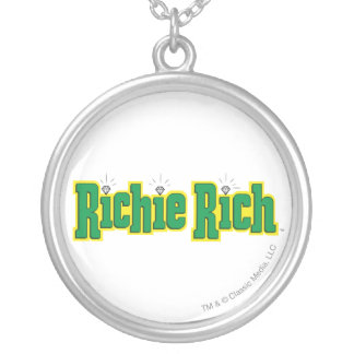 Richie Rich Logo - Color Silver Plated Necklace