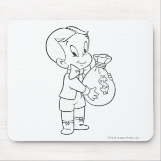 Richie Rich Money Bag - B&W Mouse Mat