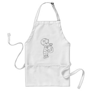 Richie Rich Money Bag - B&W Standard Apron