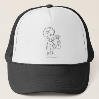 Richie Rich Money Bag - B&W Trucker Hat