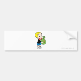 Richie Rich Money Bag - Color Bumper Sticker