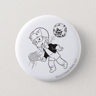 Richie Rich Paddle Ball - B&W 6 Cm Round Badge