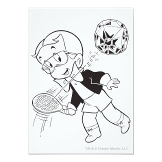 Richie Rich Paddle Ball - B&W Card