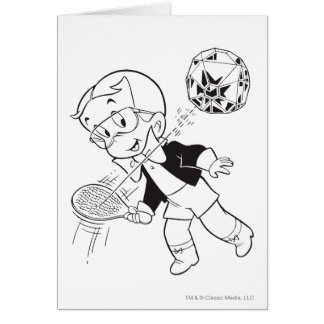 Richie Rich Paddle Ball - B&W Card
