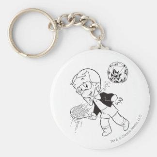 Richie Rich Paddle Ball - B&W Key Ring
