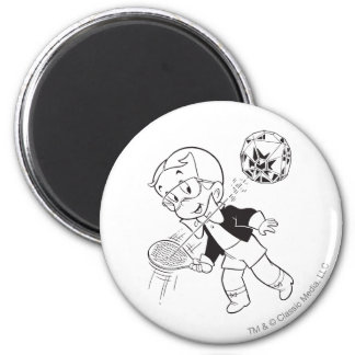 Richie Rich Paddle Ball - B&W 6 Cm Round Magnet