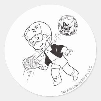 Richie Rich Paddle Ball - B&W Round Sticker
