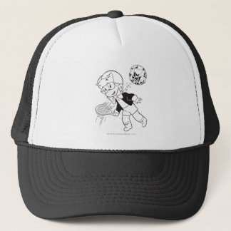 Richie Rich Paddle Ball - B&W Trucker Hat