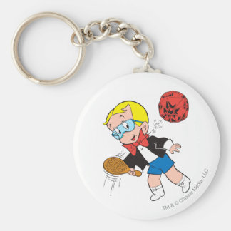 Richie Rich Paddle Ball - Color Basic Round Button Key Ring