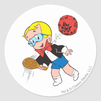 Richie Rich Paddle Ball - Color Classic Round Sticker